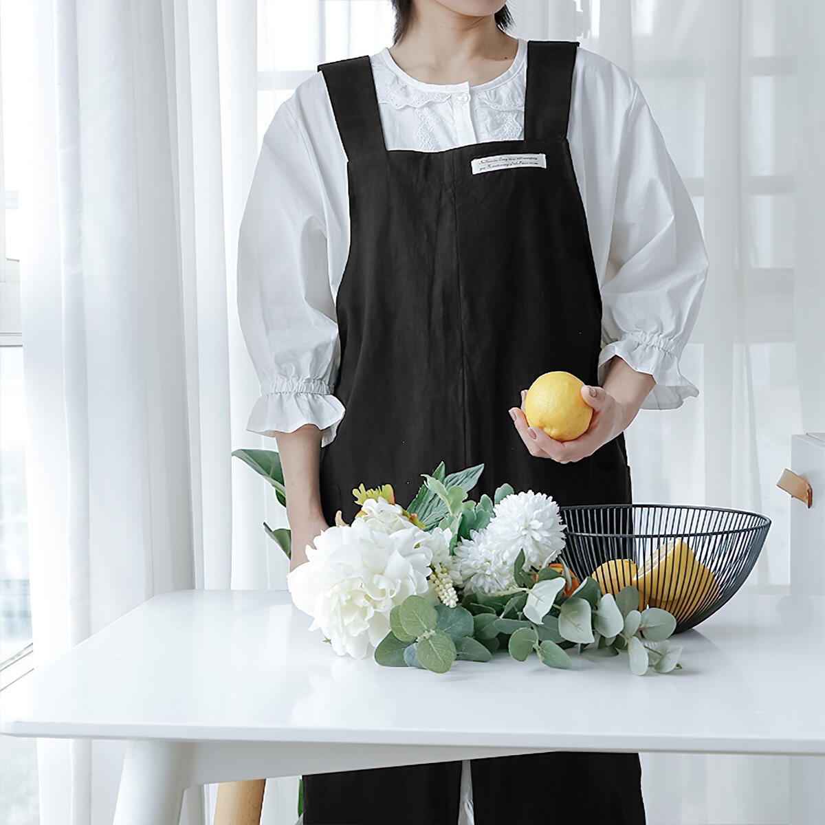 Hanee 100% Cotton Apron (Choose from 7 Colors)