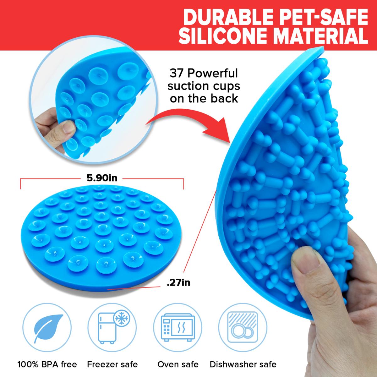 Dog Lick Mat – Set of 2 w/ BONUS Cleaning Brush