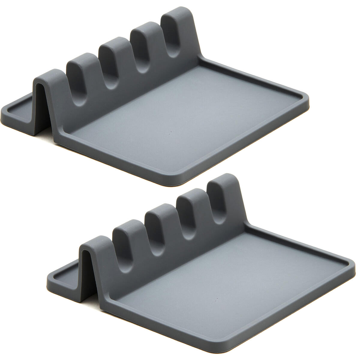 Silicone Spoon Rest for Stove Top with Drip Pad (Two Pack) - Heat-Resistant, BPA-Free Utensil Rest & Spoon Holder for Kitchen Counter - Grill Utensil Holder for Spatulas, Tongs, Ladles   + Link Amz Calc Reviews Links  Rank:  N/A (see most recent revi