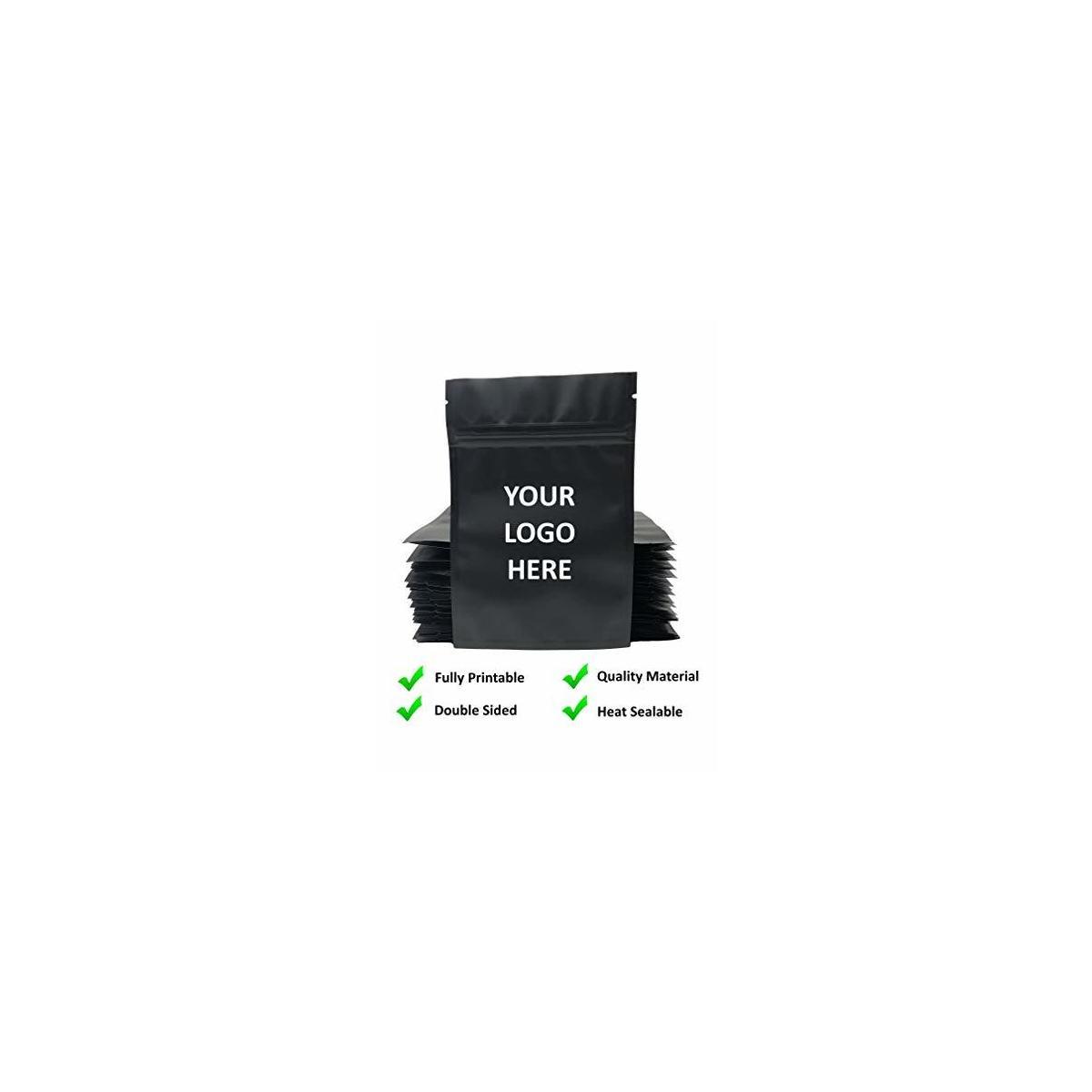 Smell Proof Flat Ziplock Double-Sided Reusable Metallic Food Storage Bags 4x6
