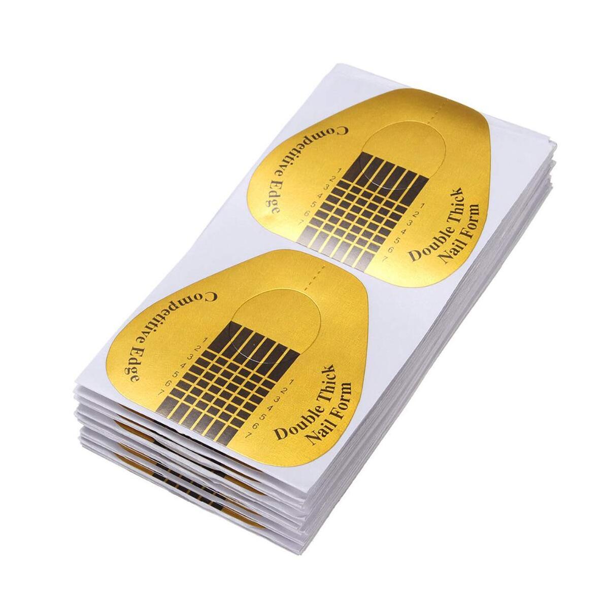 120 Pcs Acrylic Nail Forms Horseshoe-shaped Nail Art Acrylic Nail/UV GEL Nail Extention Tips Form Guide Sticker