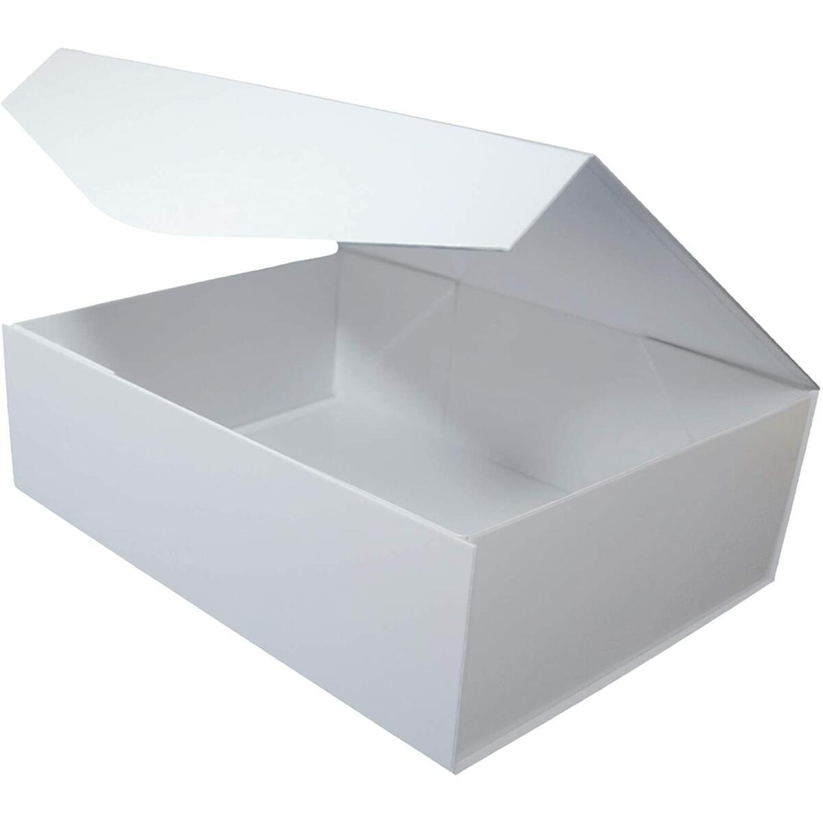Large White Gift Boxes. Bridesmaid Proposal Birthday Valentines Day Wedding. Sturdy Gift Box with Extra Strong Magnetic Closure Lid. Internal Size 12.5