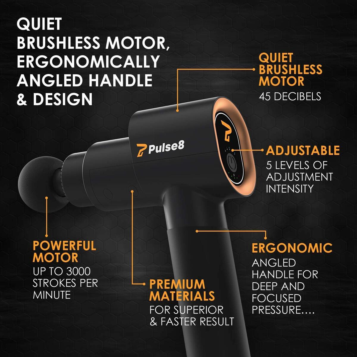 Pulse8 Laka10 Premium Massage Therapy Gun with Surprise Bonus