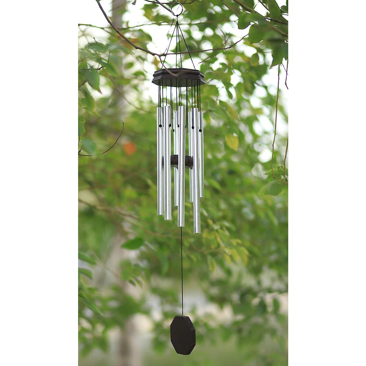 Ilaws Fairy Tale Wind Chimes 26 Inch in Total Length, Amazing Melody Created by Well-Constructed and Unique Design with 8 Tubes Aluminum for Garden, Yard, Patio, Home Decoration and Gift.