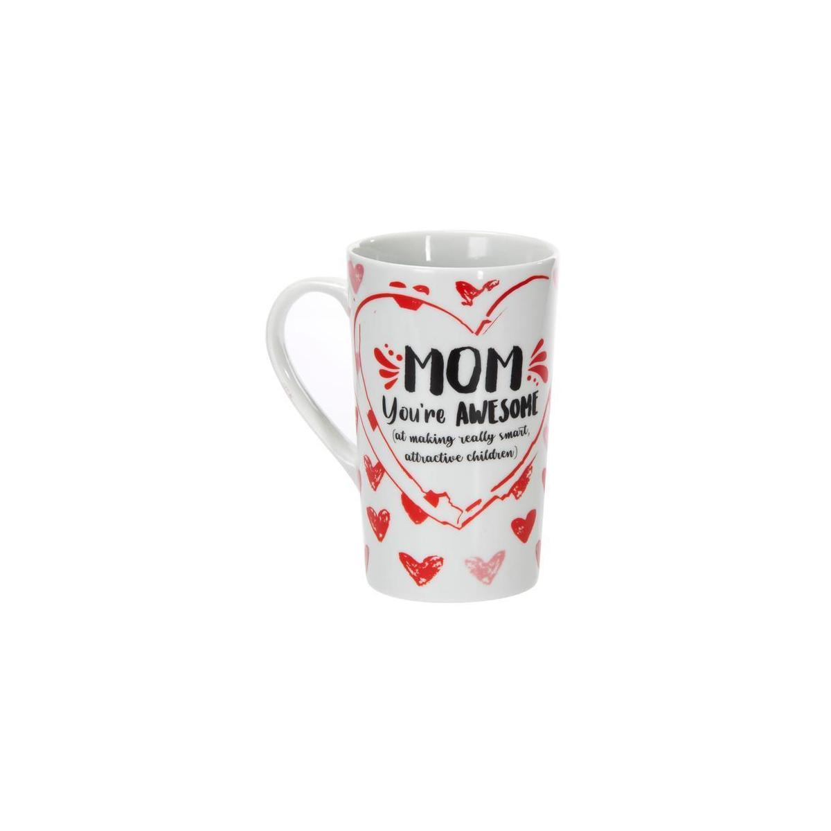 Funny Gift for Mom - Mom You're Awesome 16 oz Ceramic Mom Mug - Mom Coffee Mug for Mothers Day or Birthday Gifts for Mom