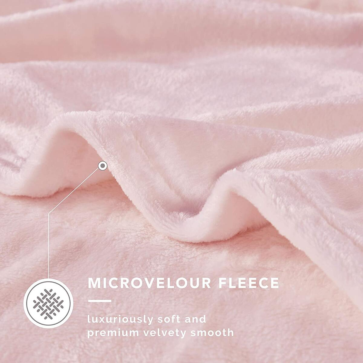 60x80 TWIN Size Any Color DEGREES OF COMFORT Fleece Twin Blanket for Bed - MicroVelour Velvet | Silky Soft & Lightweight | Use on Couch, BedT or Camping | 4 Sizes 10 Colors Available Plush Throw Blanket, 60x80 TWIN Size Any Color
