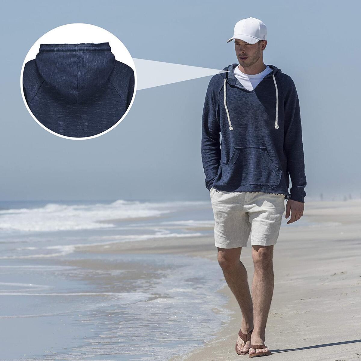 MV Sport Baja Hoodie Men (Lightweight Pullover Hoodie Men) Summer Hoodies for Men - All Colors and Sizes