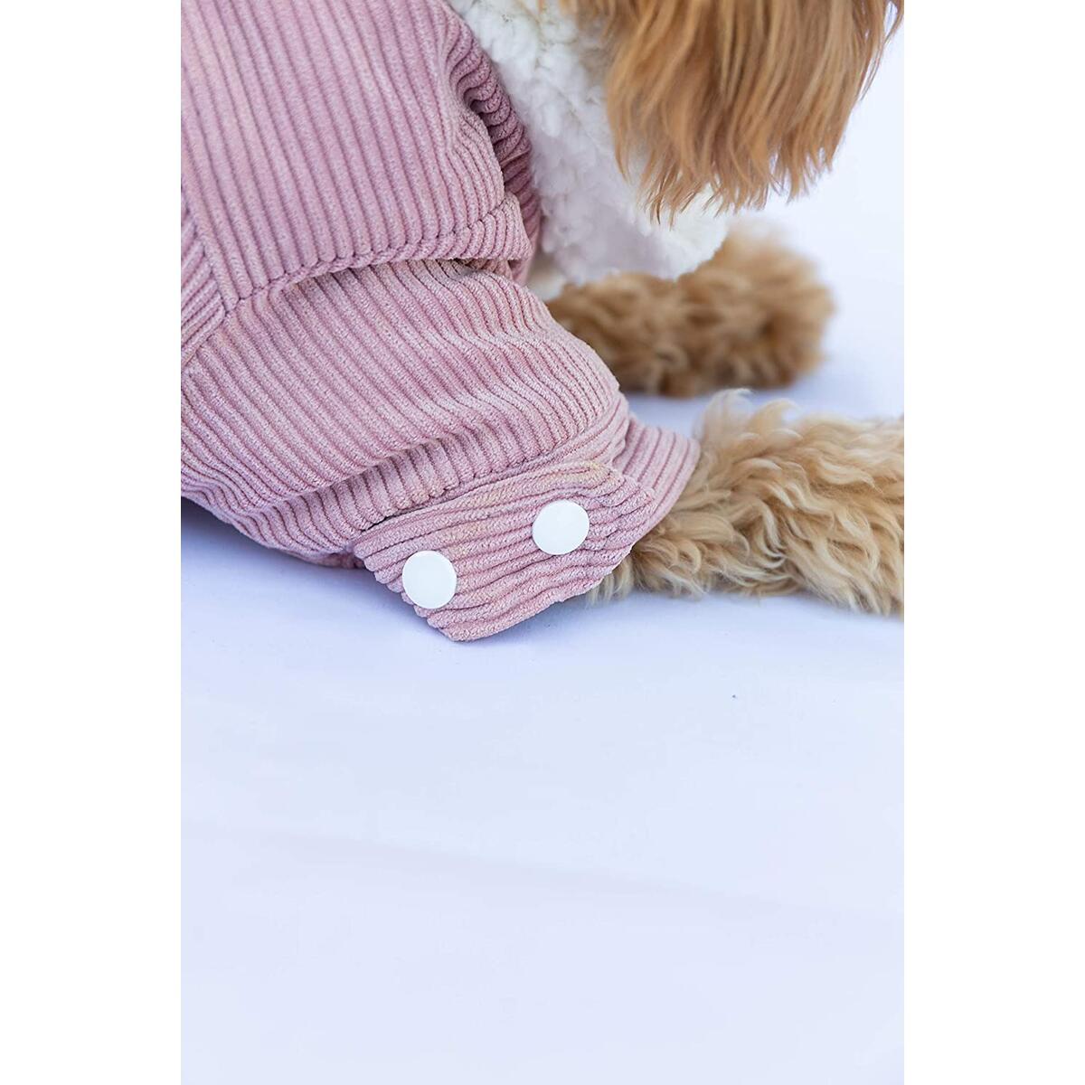 Collaroy Solid Color Corduroy Jacket with Sherpa Lining for Small Dog Breeds (All Sizes)