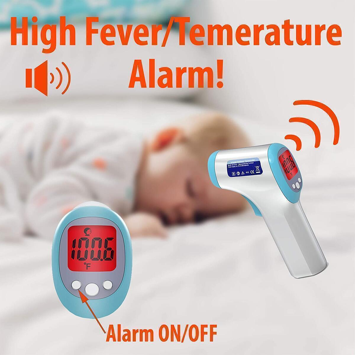 FRONT ARCH Digital Infrared Thermometer Forehead – Non - Contact Temperature Thermometer, Temperature Gun, Instant Accurate Laser Readings, Check Fever for Babies,Adults, Surface Temp