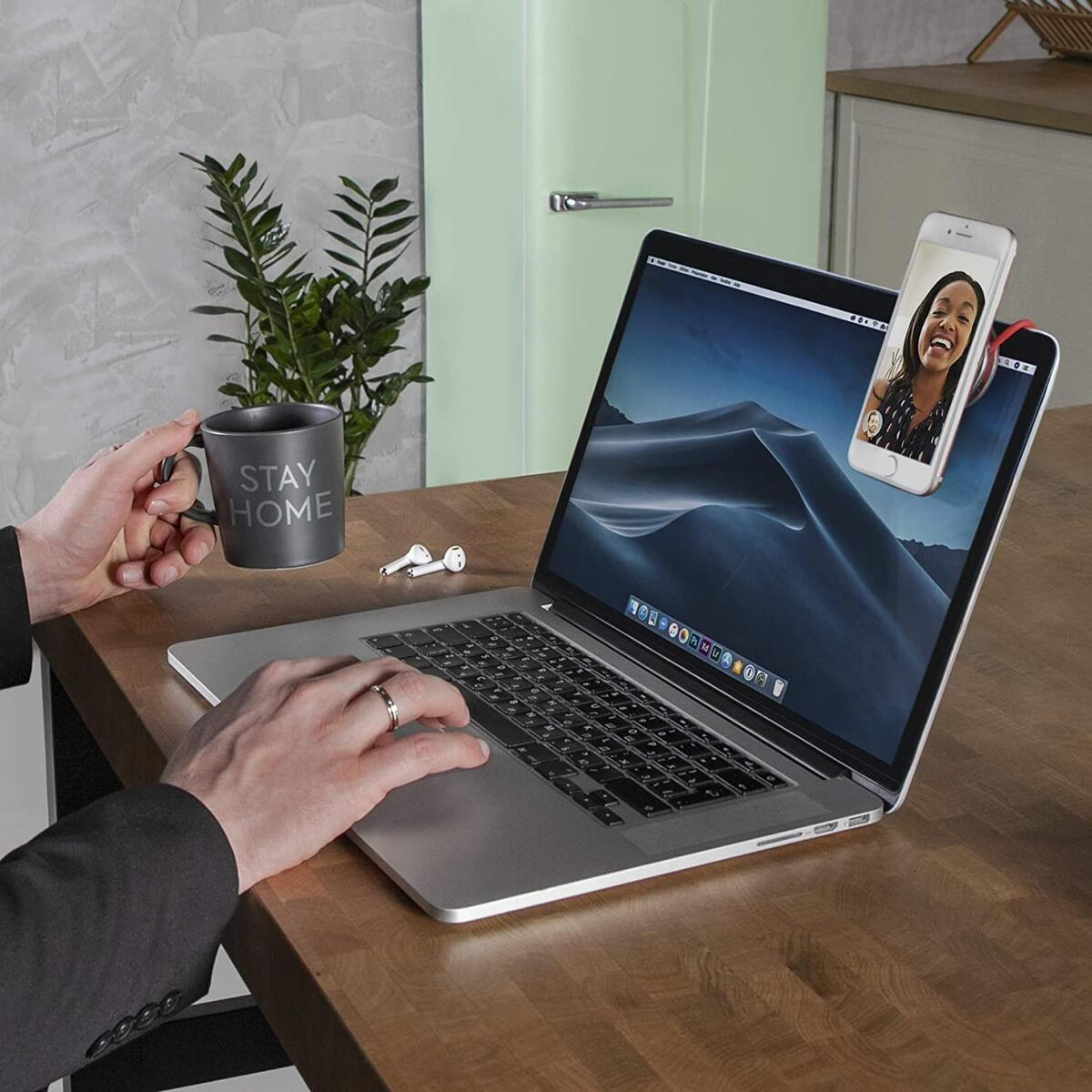 IMStick Magnetic Cell Phone Stands - Phone Holder for Desk Car GYM Bedroom Office Home (Color Silver)