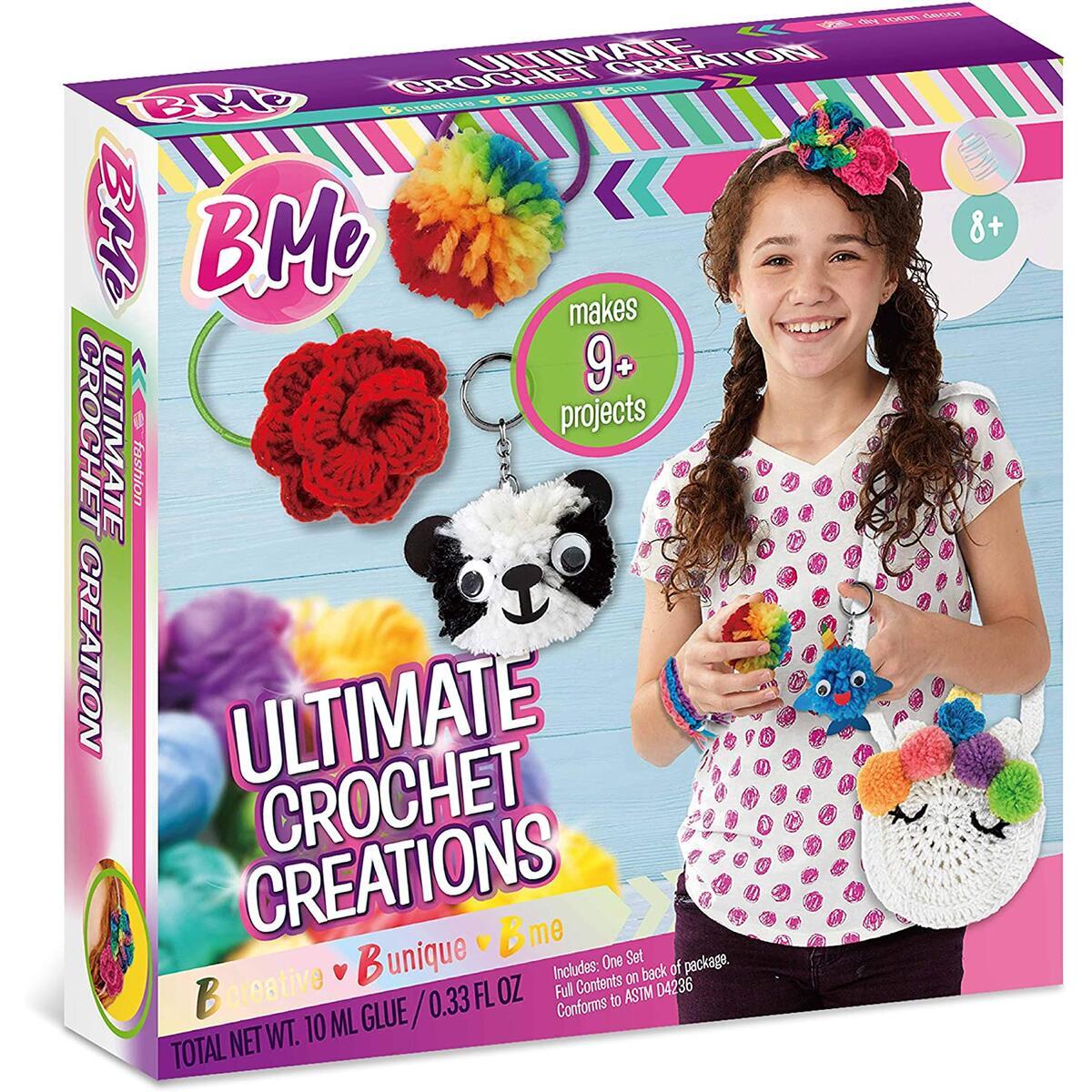 Ultimate Crochet Knitting Kit for Beginners Gift Set for Girls – Ages 8 +