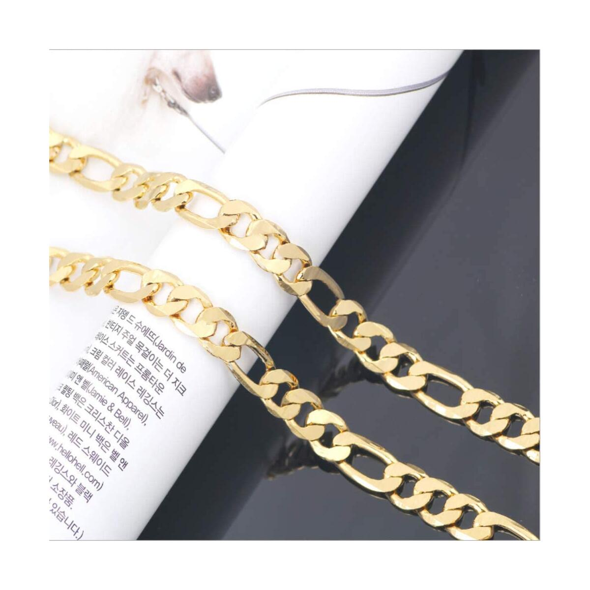 Gold chain necklace for men and women