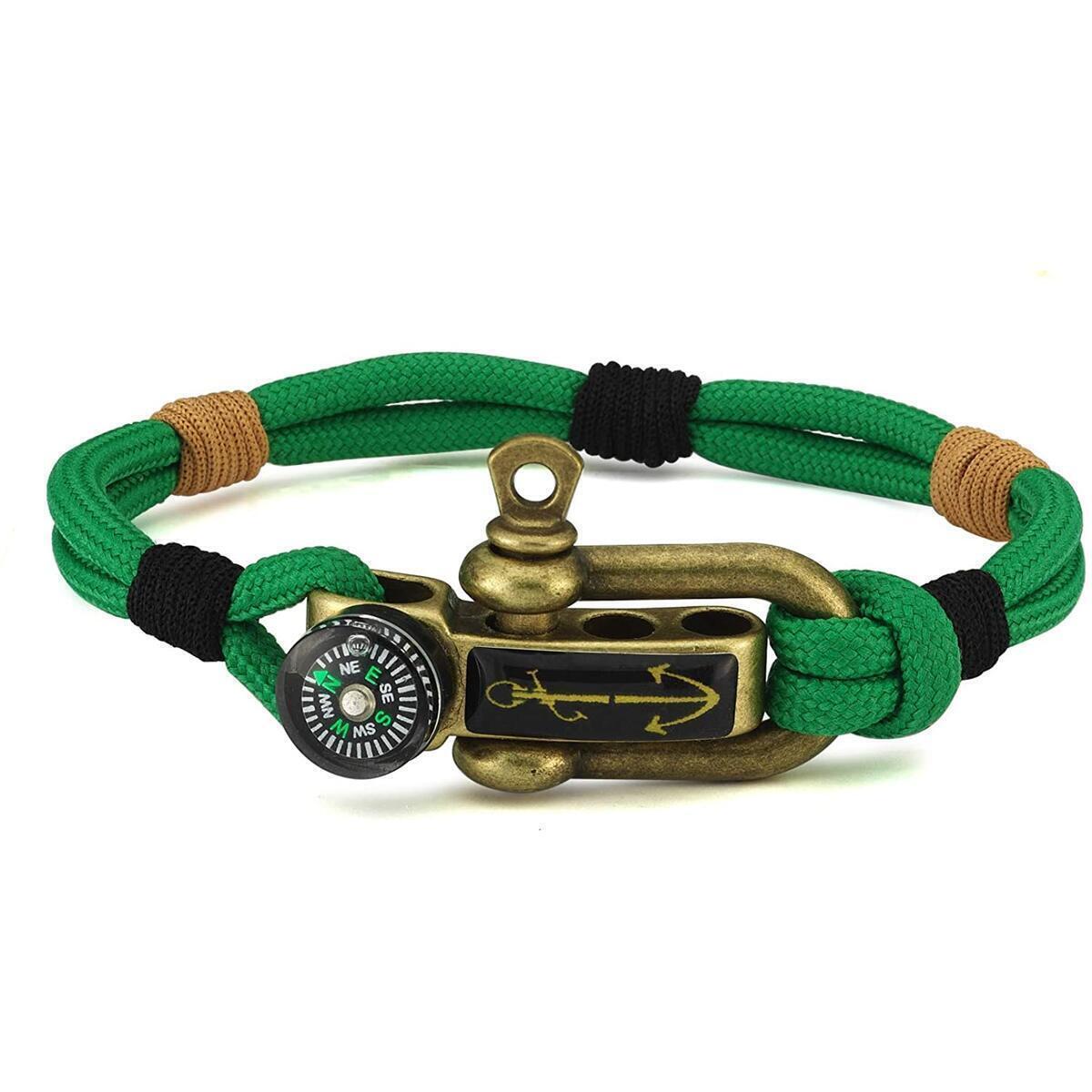 Antic Anchor Premium Stainless Extremely Durable Mens Bracelet and Resistant Waterproof Paracord Handmade Nautical Wristband for Men Women Duruj Paracord Men Bracelet Multi Style Adjustable