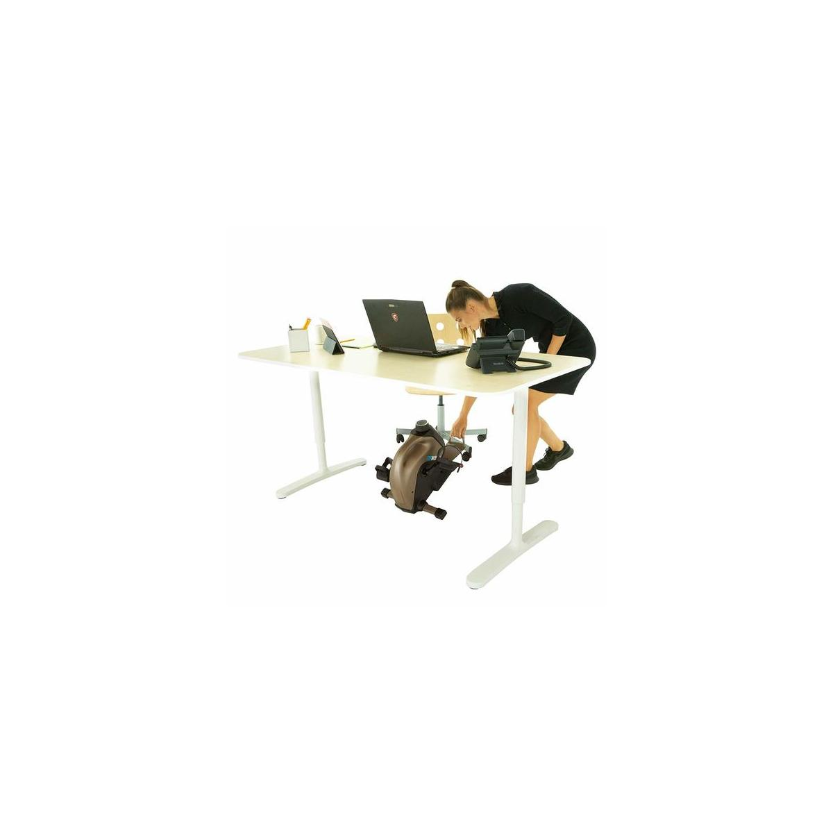 Exerpeutic 900 Bluetooth Under Desk Exercise Bike with Extendable Chair Hook for All User Height and Free APP