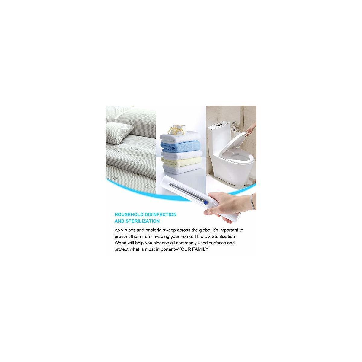 Portable UV Light Sanitizer Kills 99.5% of germs