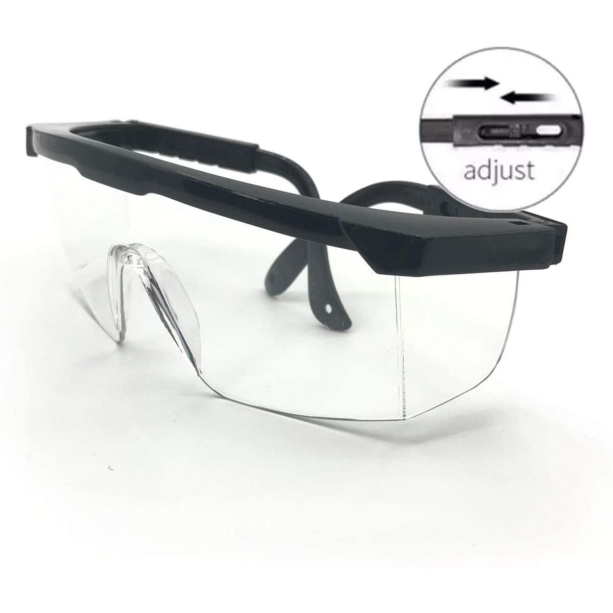 Powerlap Pro FMA105V2 - Safety Glasses with Side Shields Anti Fog and Anti Scratch, with Impact Resistant Eye Protection | Unisex Adjustable legs Frame | Clear Glasses Protective Eyewear Goggles