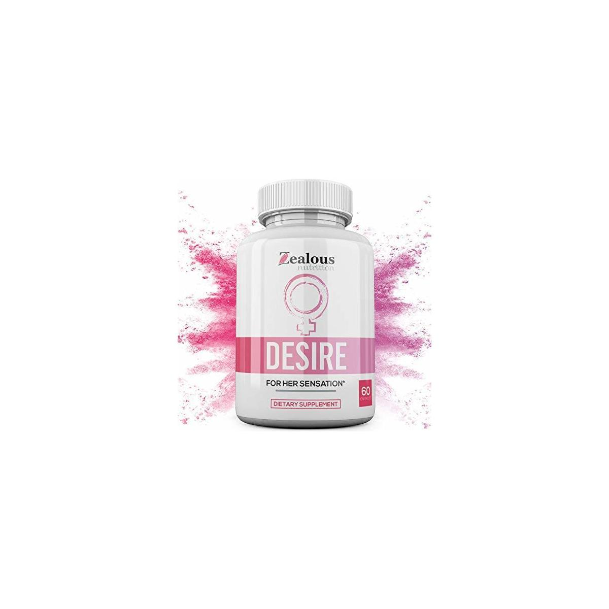 Desire Female Enhancement Pills – 5X Natural Mood Booster for Women - Increase Energy, Libido, Vitality, Reduce Dryness, Balance Hormones, PMS and Menopause Relief - 60 Caps