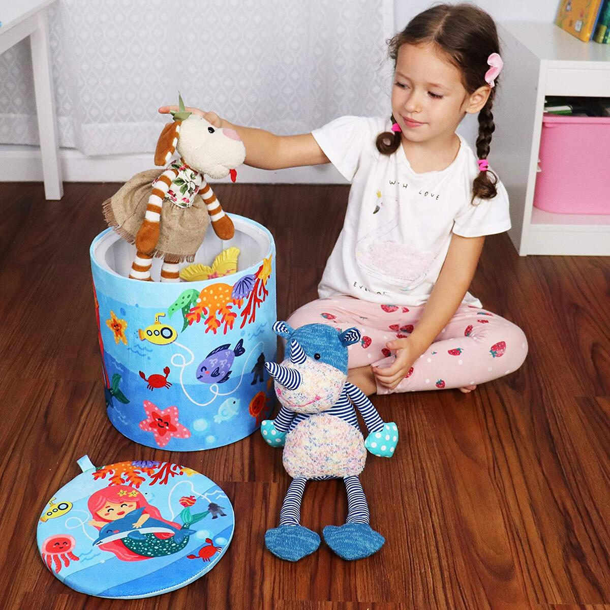 Kids Toy Storage Stool – Fun & Convenient Toy Chest for Modern Parents and Playful Children