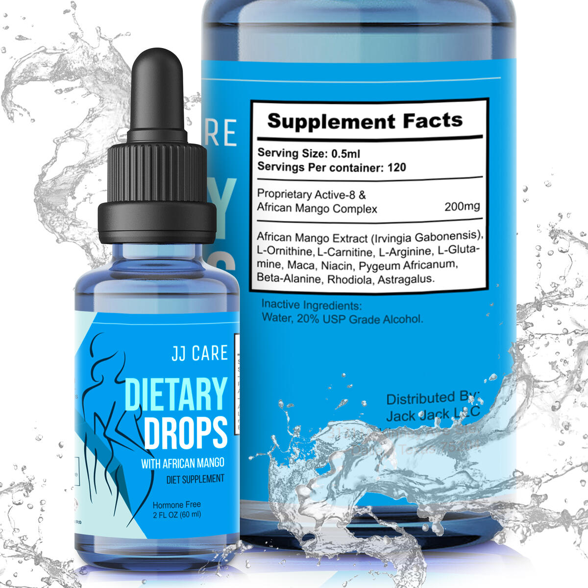 Diet Drops for Weight Loss for Women & Men (2 Fl Oz) Appetite Suppressant Drops -Made in USA- Liquid Weight Loss Drops - Metabolism Drops with L-Carnitine L-Arginine L-Glutamine, African Mango Extract