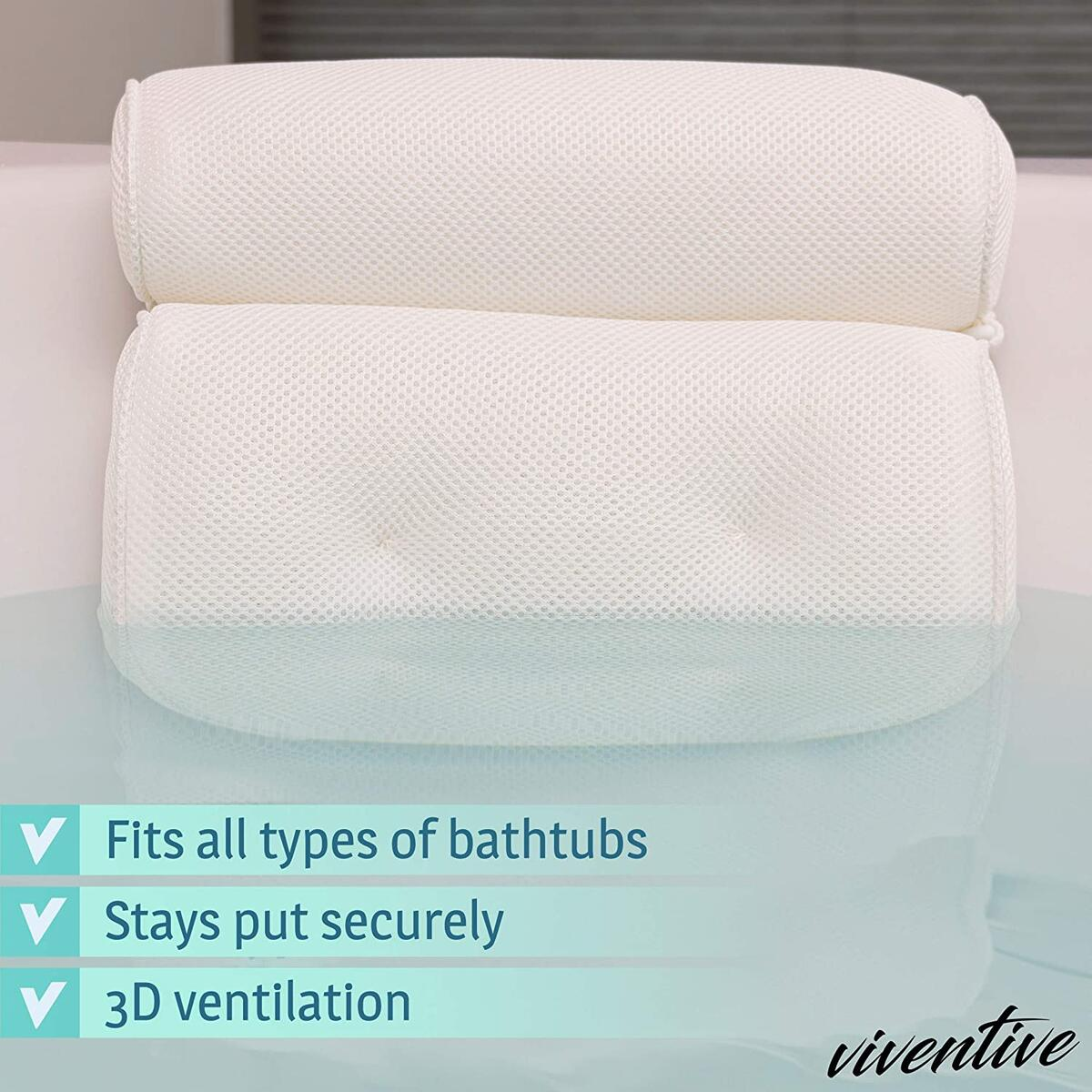 Luxurious Bath Pillow Non-Slip and Extra Thick