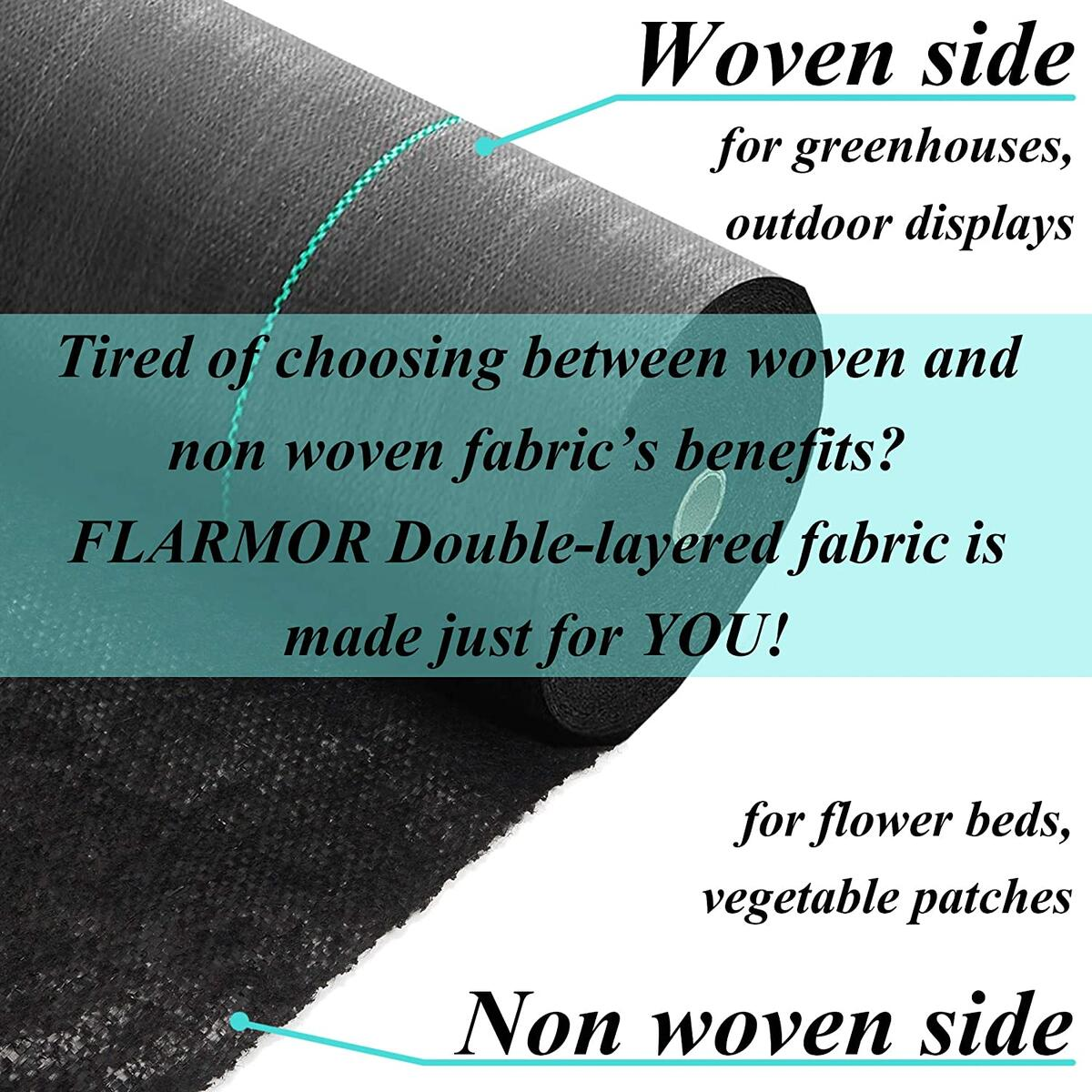 3x300ft Professional Woven Landscape Fabric-5oz/170gsm Geotextile Commercial Grade Garden Liner Roll - Weedblock for Garden, Flower Bed, Driveway, Drainage and Weed Prevention-Heavy Duty Ground Cover