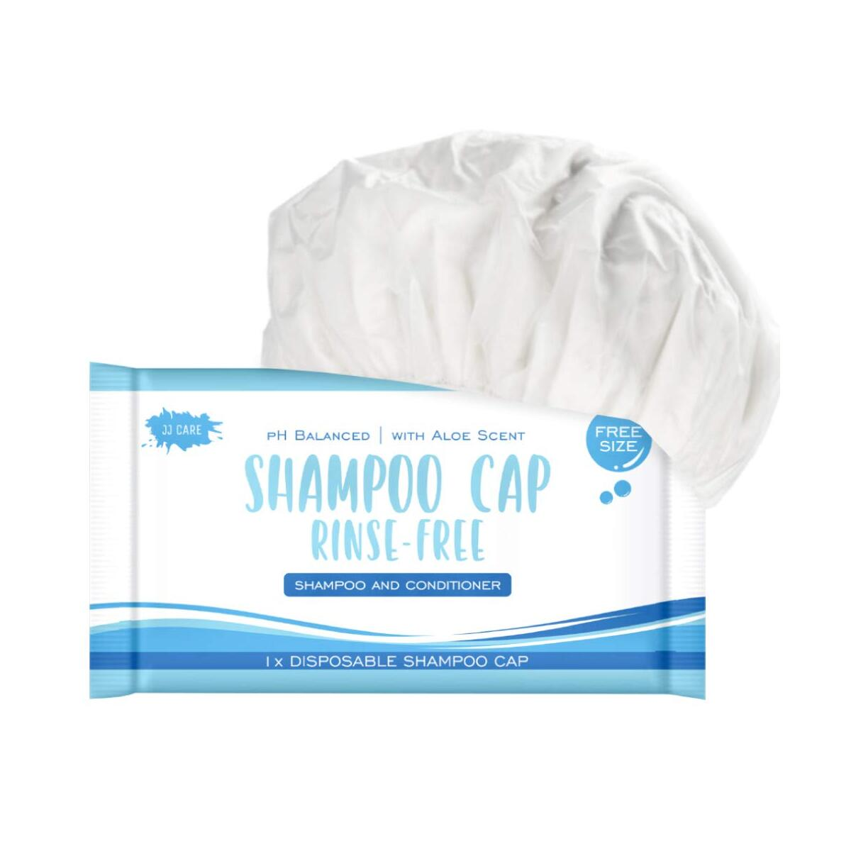[Pack of 32] Rinse-Free Shampoo Cap, Rinse-Free Shampoo and Conditioner Medical Shampoo Cap, Dry Shampoo Cap, No Water or Rinse-less, Microwaveable Shampoo Cap, For Disabled, Elderly, Camping, Aloe Scented