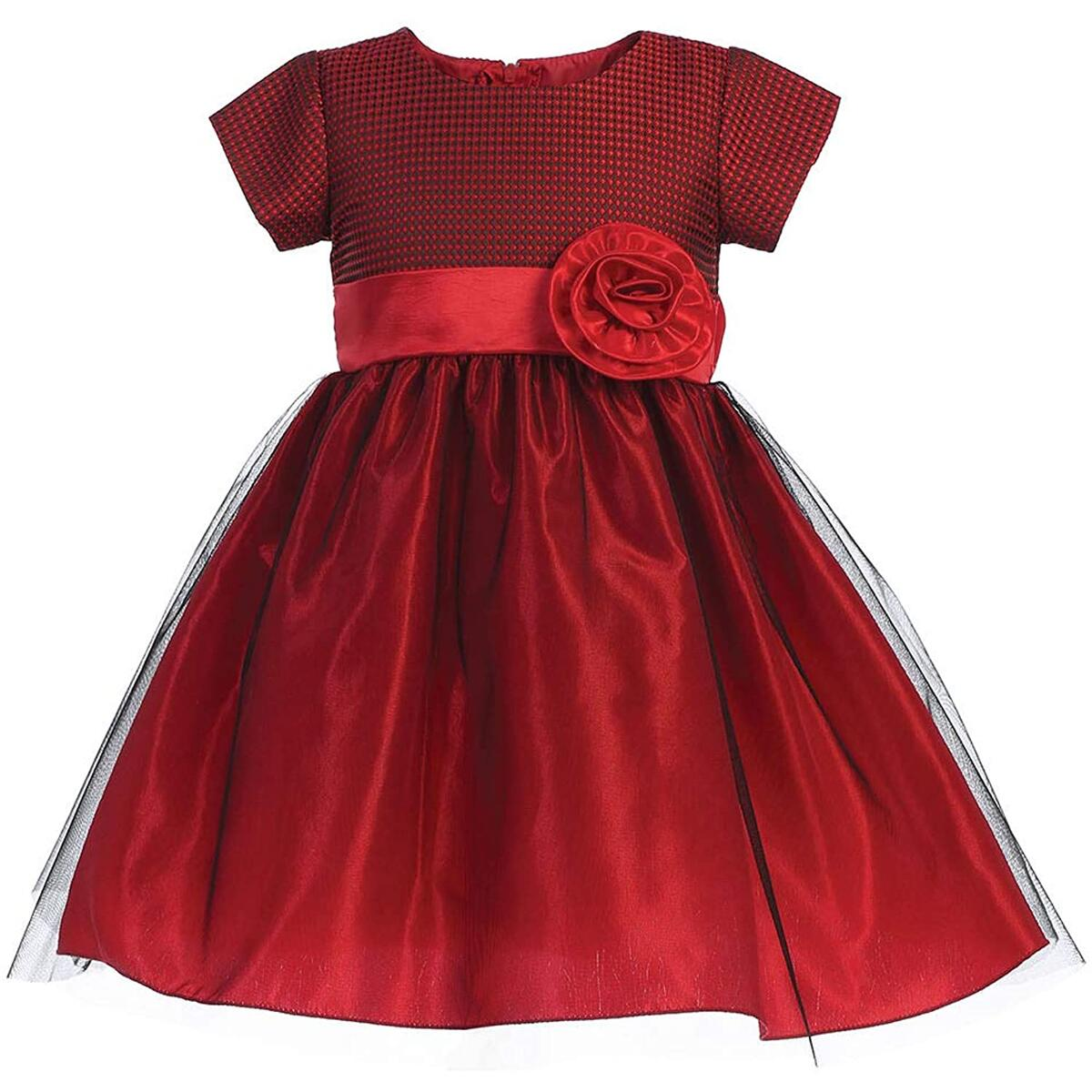 Pink Princess Christmas Dresses for Girls - Red Burgundy Long Sleeve Baby Boy Toddler Outfits - Made in USA
