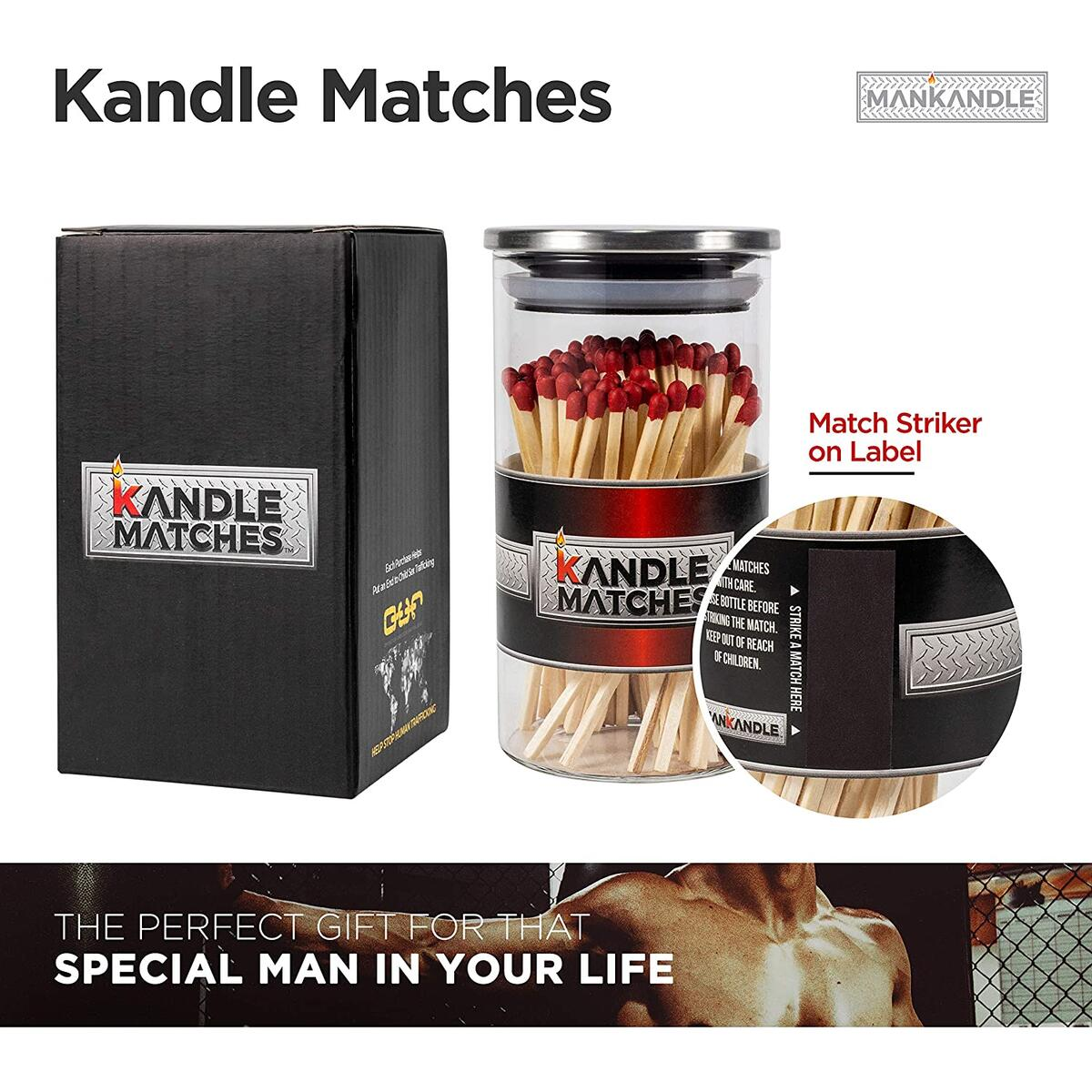 Majestic Zen- Kandle Matches | Luxury Decorative Matches | 100 count Premium Long Matches for Candles | Candle Matches | Matches in a Jar | Incense Matches | Long Wooden Matches | Cigar Matches