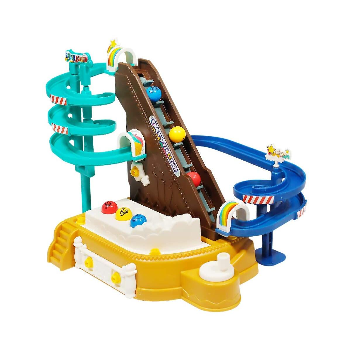 Yueda Ball Run Toy, Ball Drop Toy DIY Toy Building Sets Marble Run Race Track for Toddlers 3 4 5 6 Year Old Boys & Girls