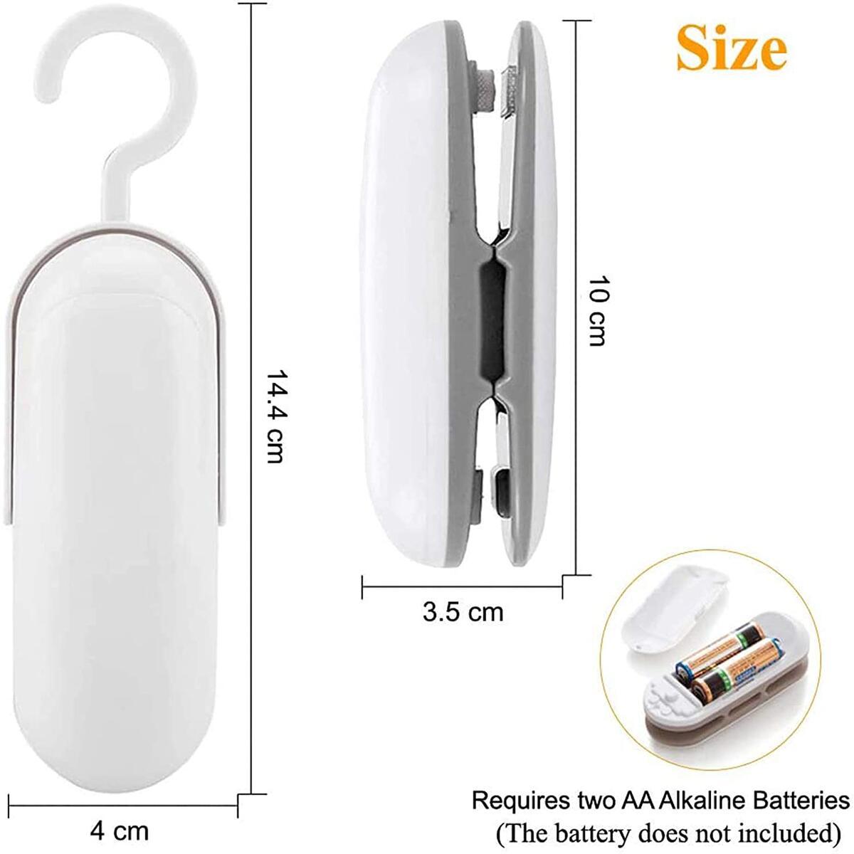 Mini Bag Sealer, Handheld Heat Vacuum Sealer,2 in 1 Heat Sealer and Cutter Portable Bag Resealer