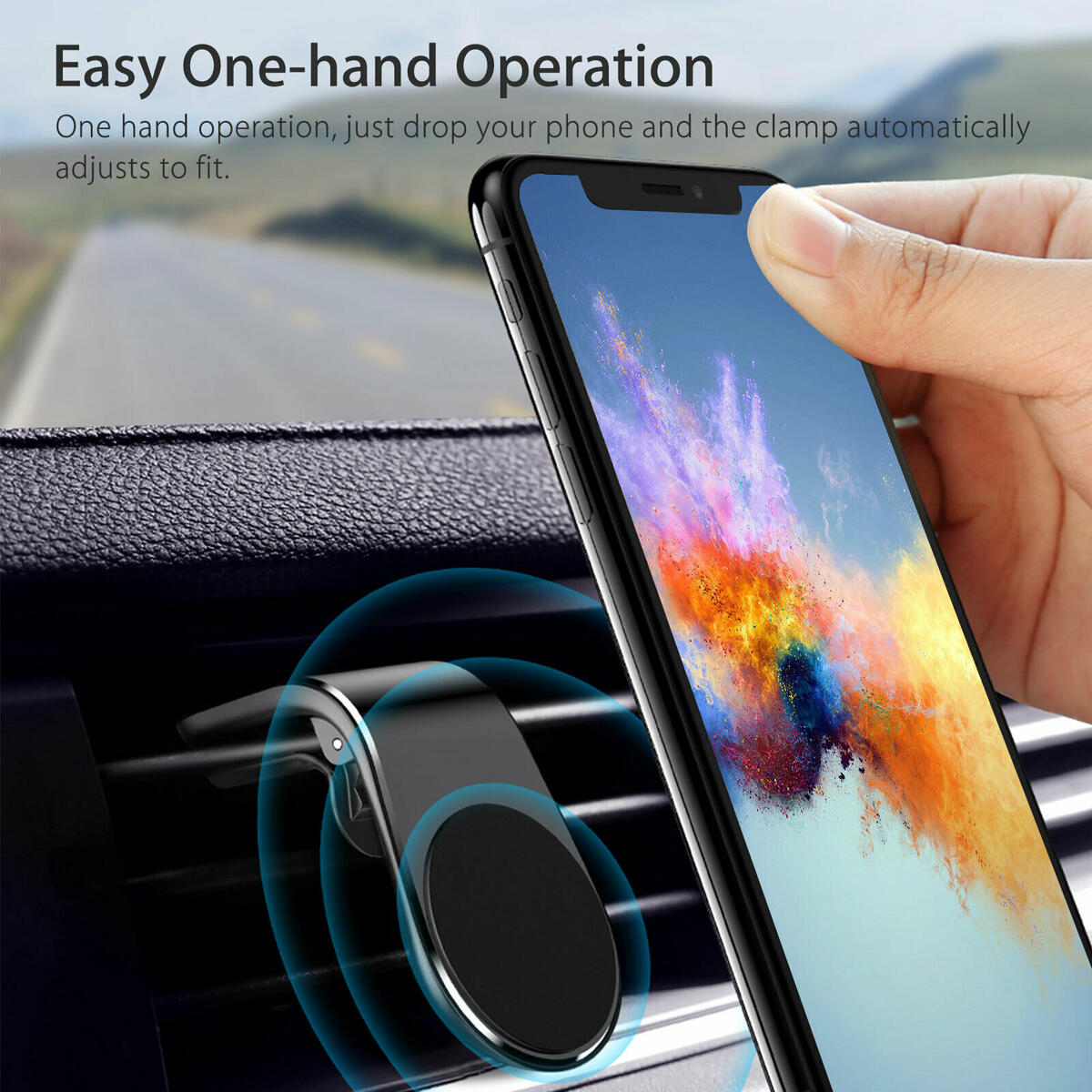 2-Pack Car Magnet Magnetic Air Vent Stand Mount Holder Universal for Mobile Cell Phone…
