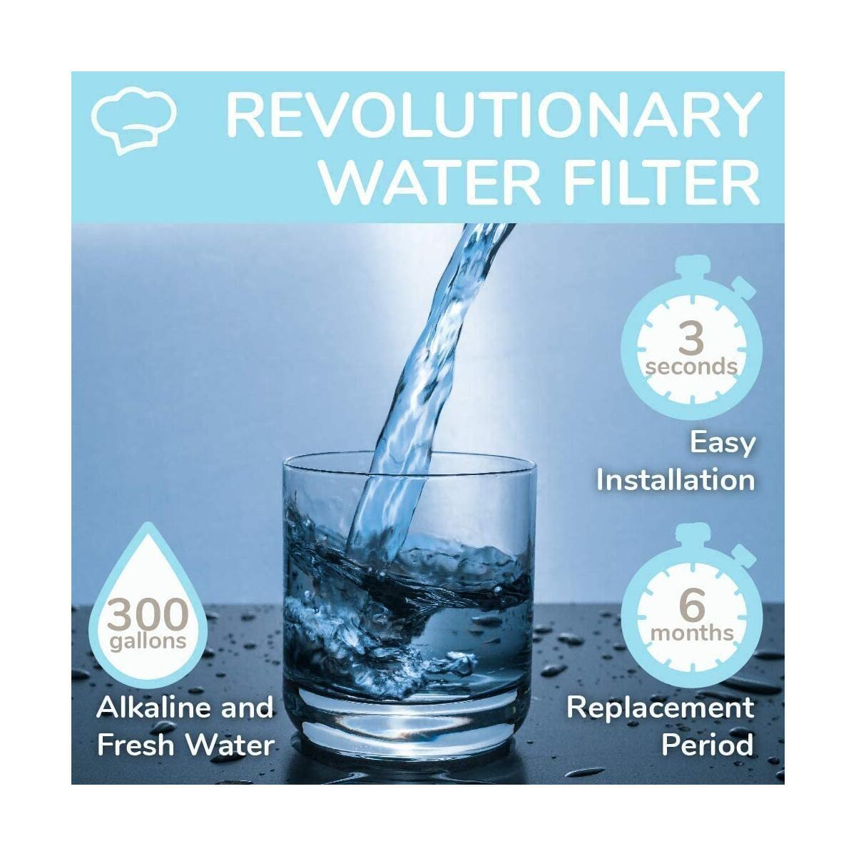 NEW WAMERY Alkaline Samsung Refrigerator Water Filter Replacement DA29-00003G Increase pH Level and Removes Contaminats Compatible with Samsung Fridge DA29-00003B RSG257AARS DA29-00003A