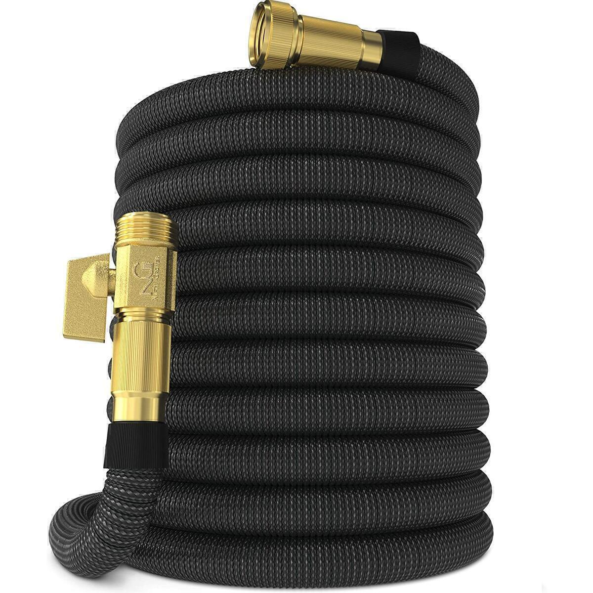 Nifty Grower 100ft Garden Hose - New Expandable Water Hose with Double Latex Core 3/4