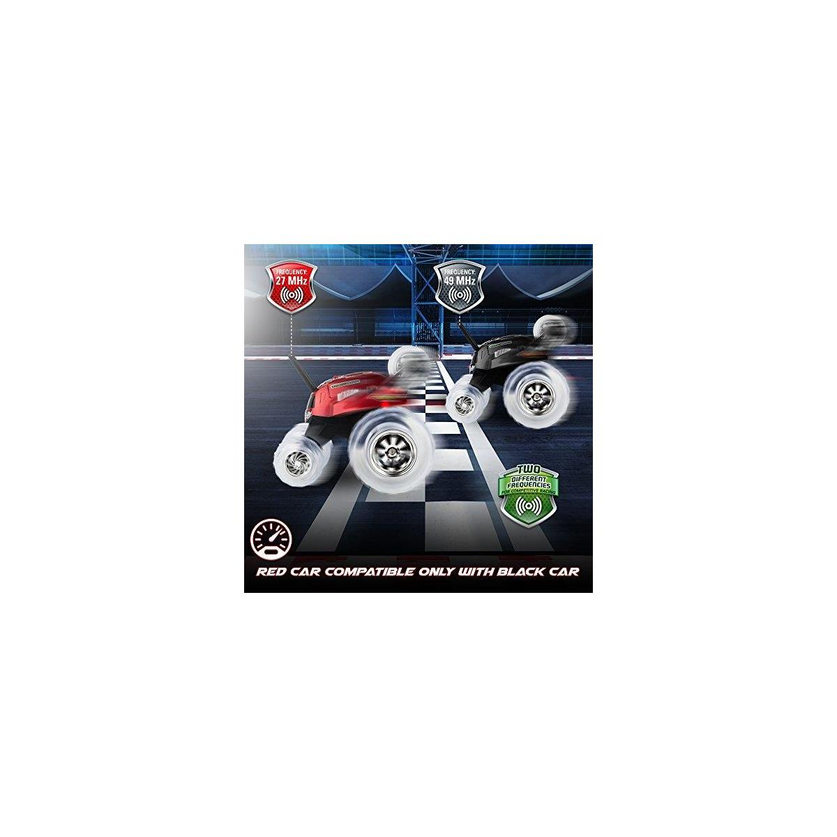 Sharper Image Remote Control Car Perfect Holiday Gift for Boys and Girls - 49 MHz Black