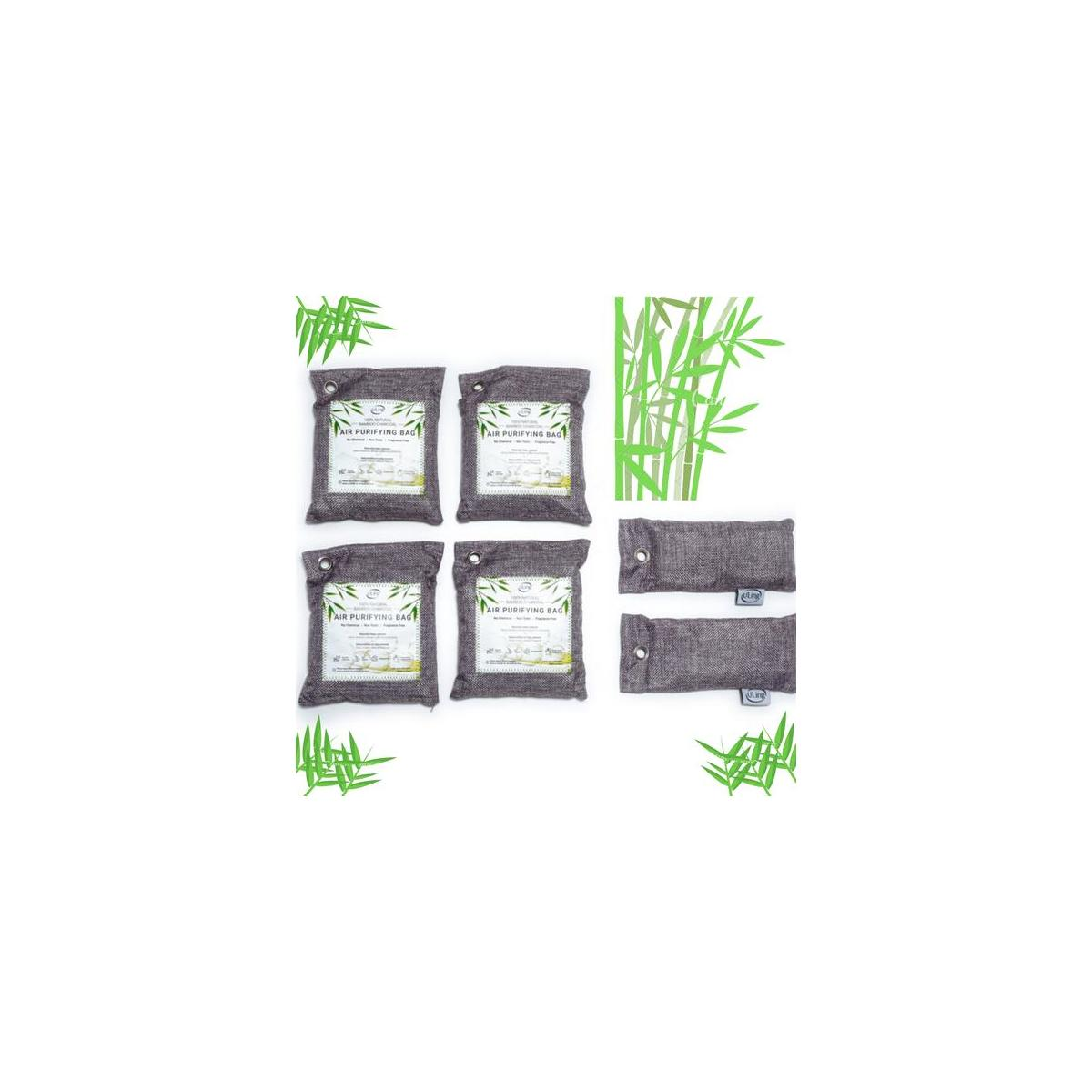 Charcoal Air Purifying Bags 6 pack - All natural use for your home, car, shoes, pet area