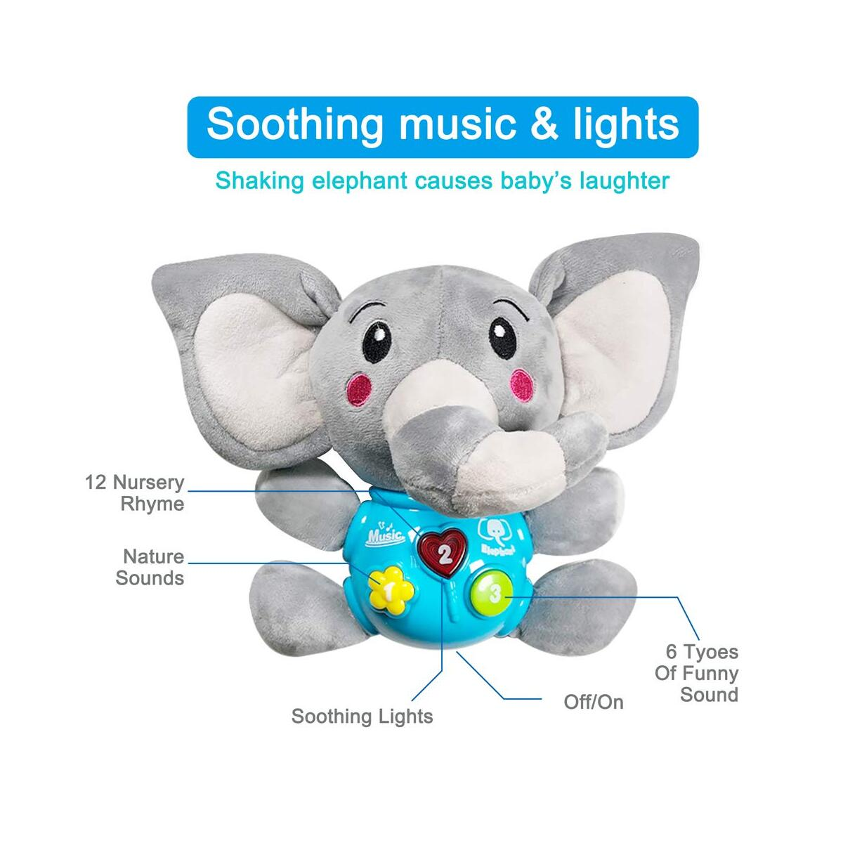 Soothing Dolls Plush Soother Music Dolls Pacifiers Soothing Partners Elephants