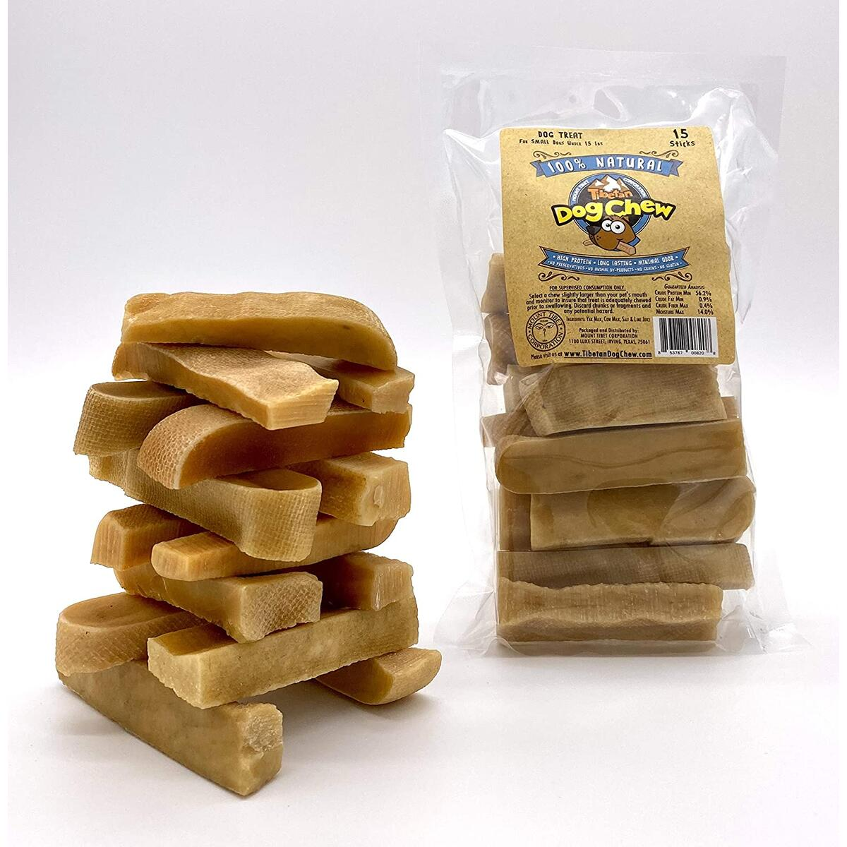 Yak Cheese Himalayan Chew - Himalayan Yak Milk - Natural Yak Cheese Chew, Long Lasting Dog Treats for Aggressive Chewers .Keeps Dogs Busy & Enjoying, Indoors & Outdoor Use