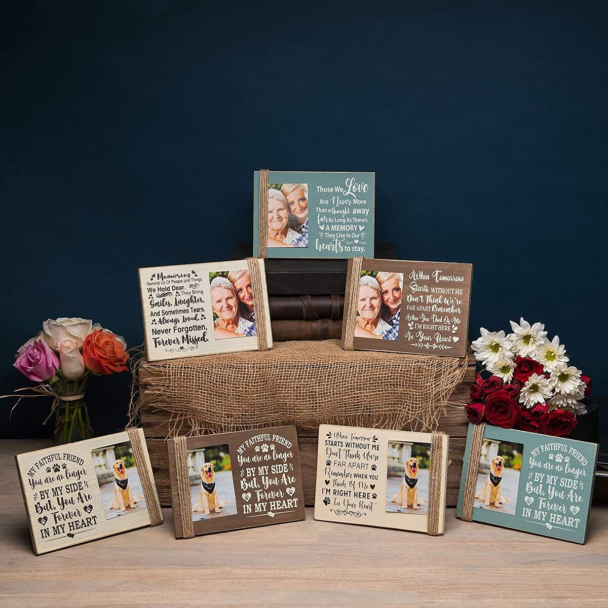 "MemoMajestic Zen 5"" x 7"" Memorial Picture Frame- Holds 3"" x 4"" Photos-Sympathy Gifts-Bereavement Gifts for Loss of a Mother, Father, or Grandparents, Husband- Loss of a Loved One, in Memory of Loved One"