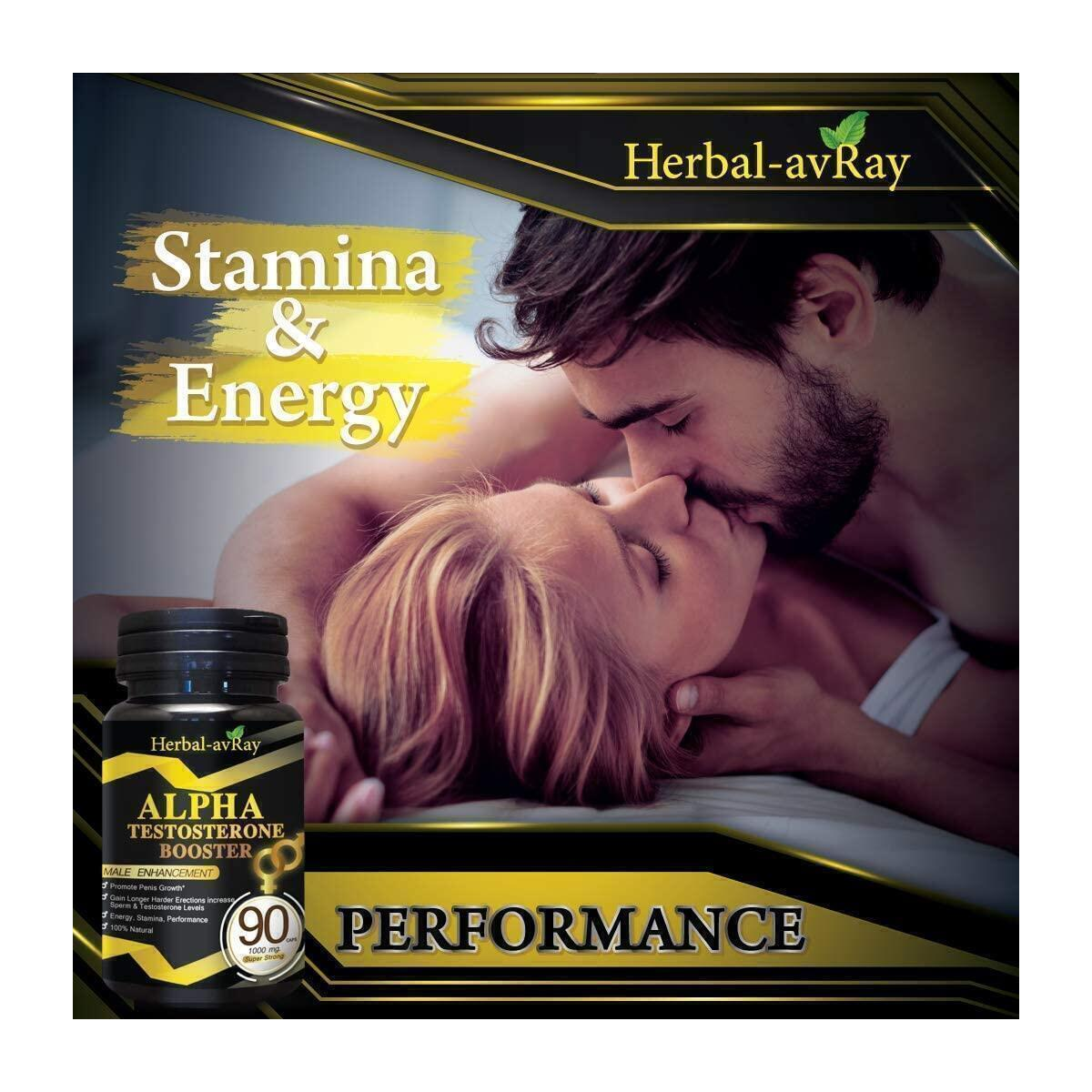 ALPHA Male Enlargment Pills For Men| Natural Testosterone Booster For Men| Stamina Fuel For Men| Male Enhancment Pills For Men Increase Size, Strength, Stamina, Energy| 90 Capsules Performance Booster…