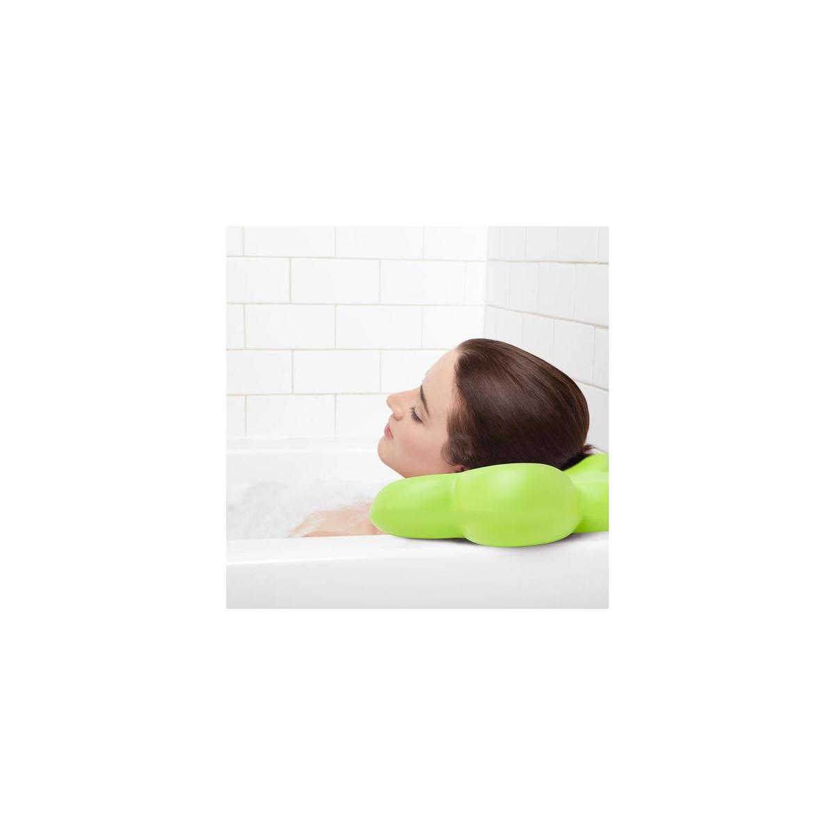 Best Luxury Bath Pillow with Powerful Suction Cups - Green - Great For Mother's Day!