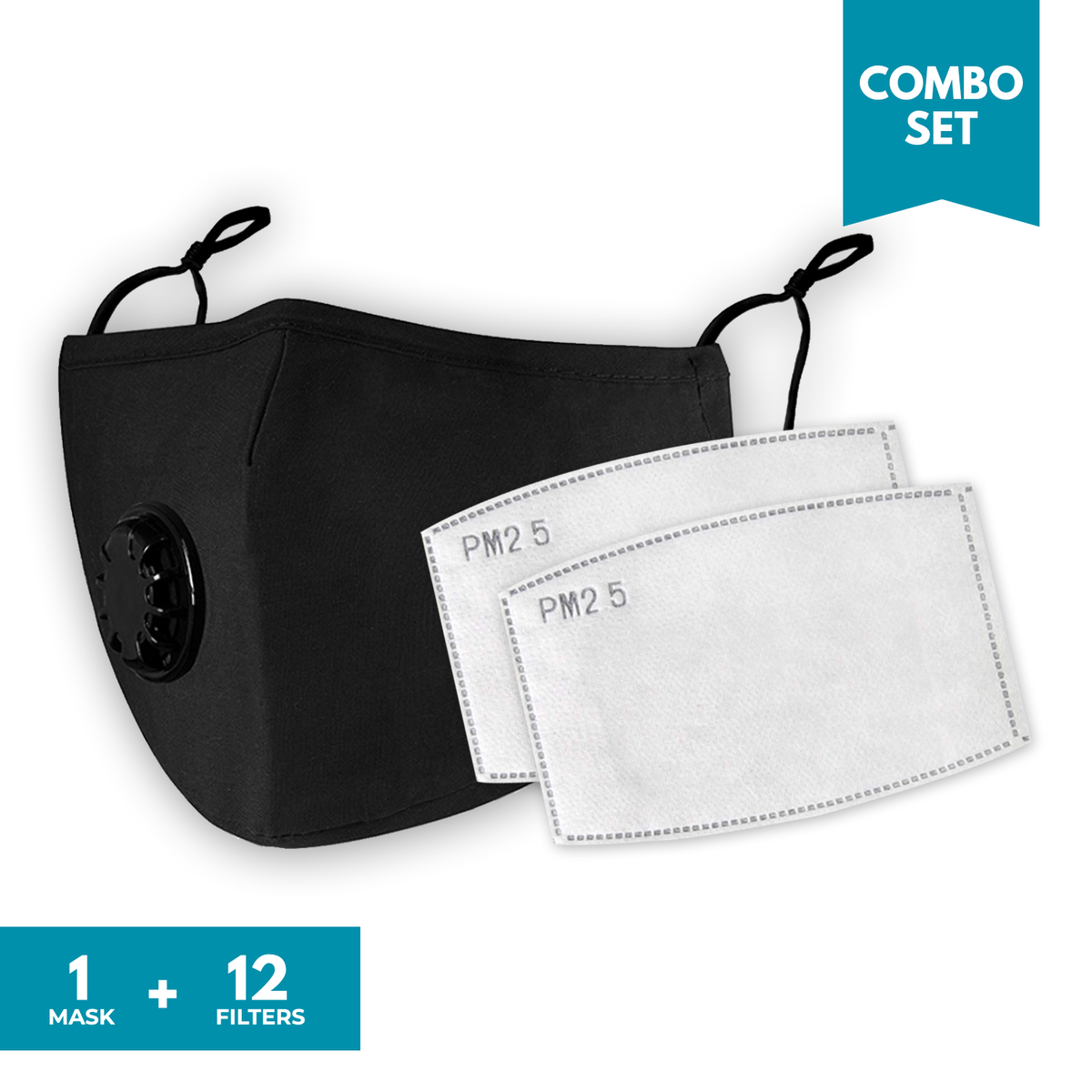 Combo Set - 25%+25% OFF | Airnex Face Mask + Activated Carbon Filters PM2.5 Set