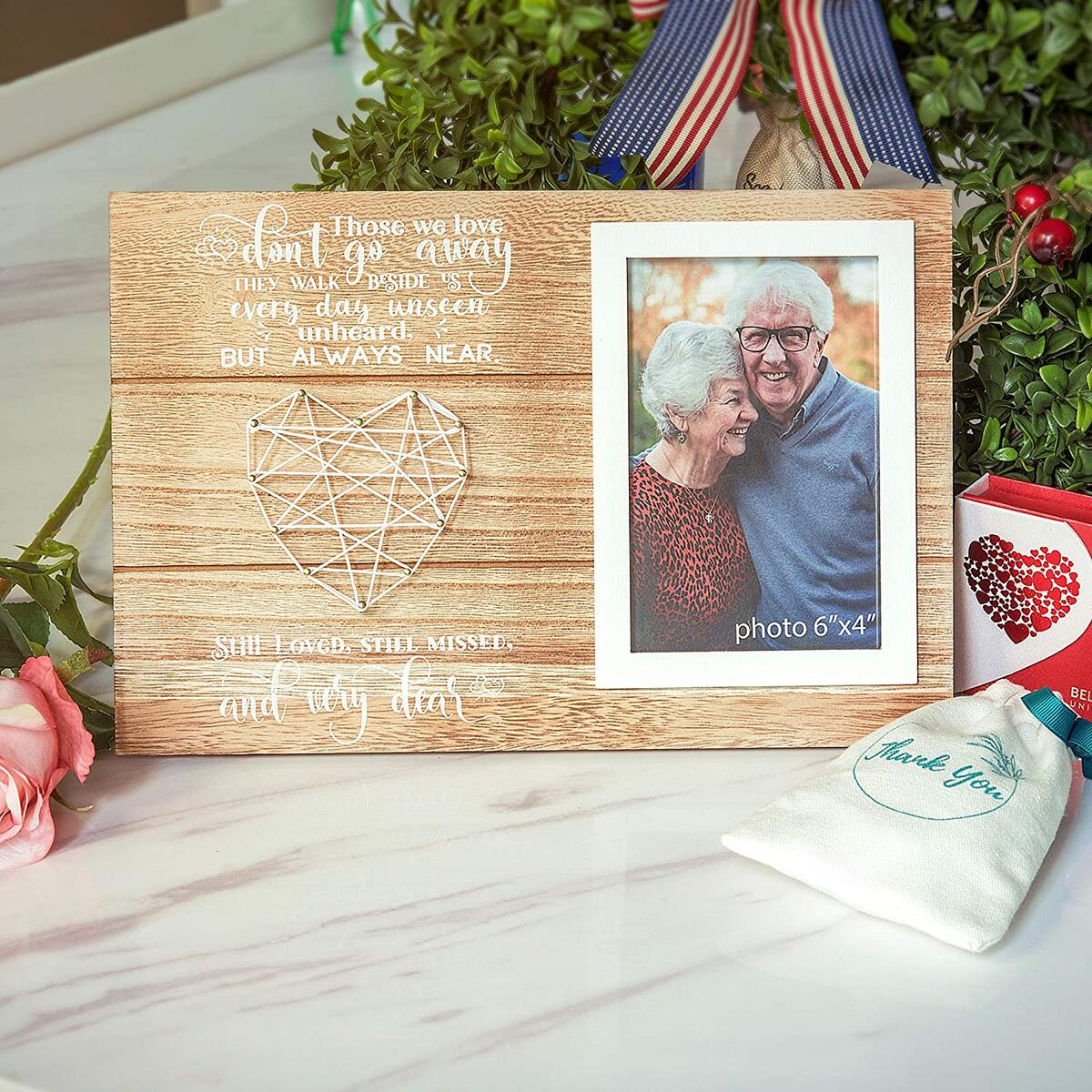 Hendson Memorial Gifts Picture Frame - Remembrance Bereavement and Sympathy Gift - in Loving Memory of Mother, Father, Grandma, Grandpa - Photo Frame for Loss of Loved One - Fits 4x6 Inches Photo