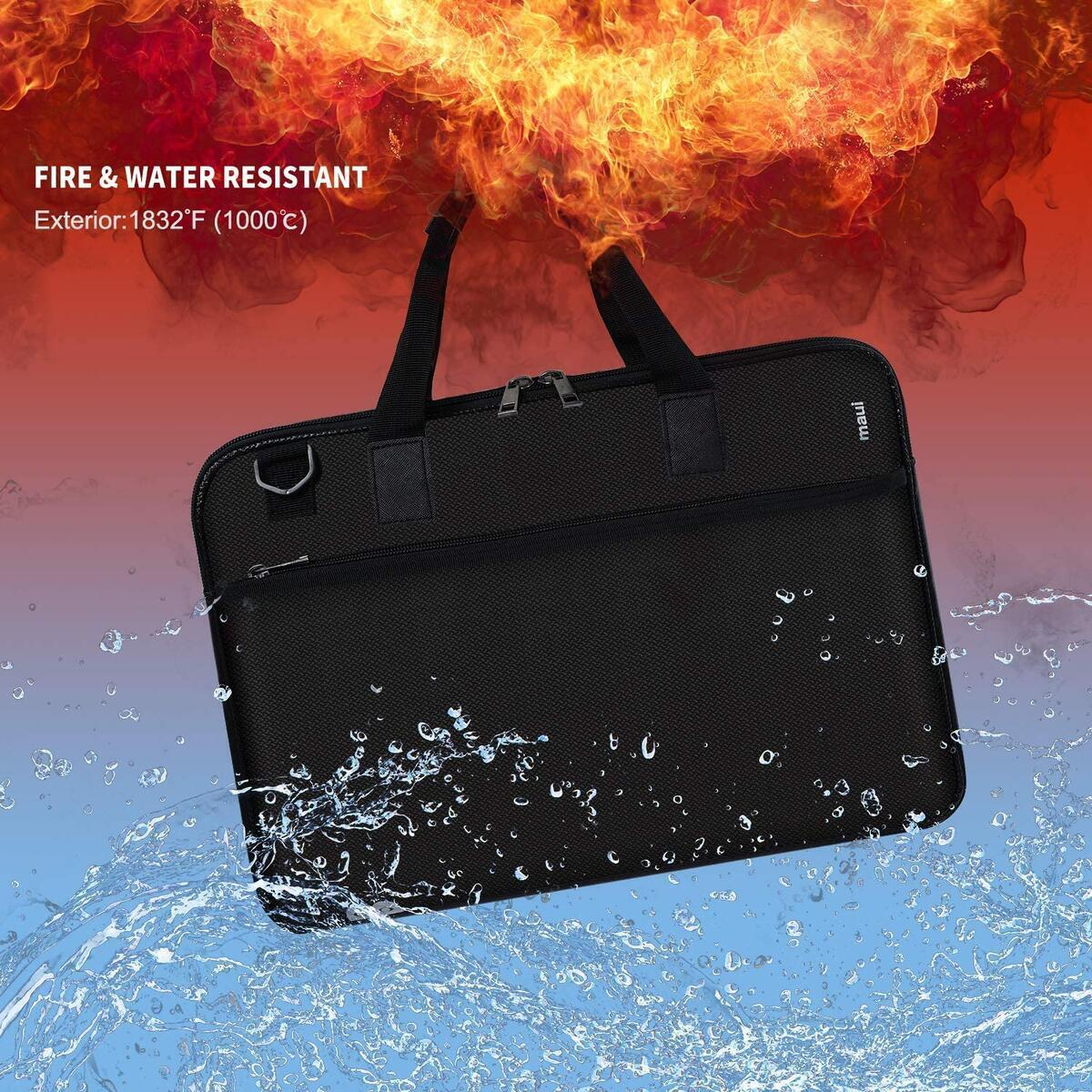 Fireproof Document Bag | Safe Storage 15 x 11 x 1.6 inches | Silicone Coated Non-Itchy Fiberglass Fire Resistant Bag for Laptop | Legal Document & Valuables