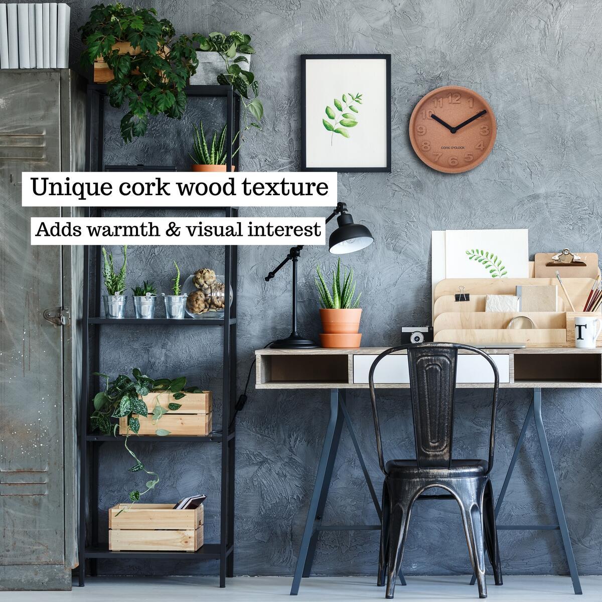 Unique Cork Wood Clock - The CORK O'CLOCK