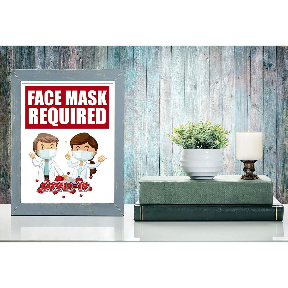 Face Mask Required Sign - Coronavirus Covid19 Poster - 5pack