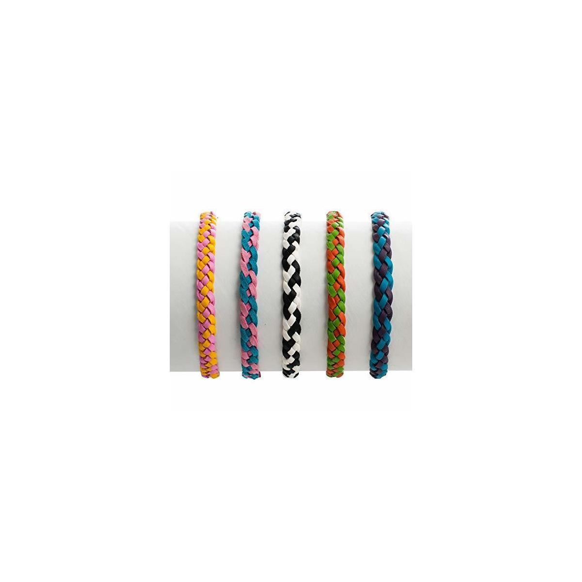 Nature's Hangout Leather Braided Mosquito Repellent Bracelet