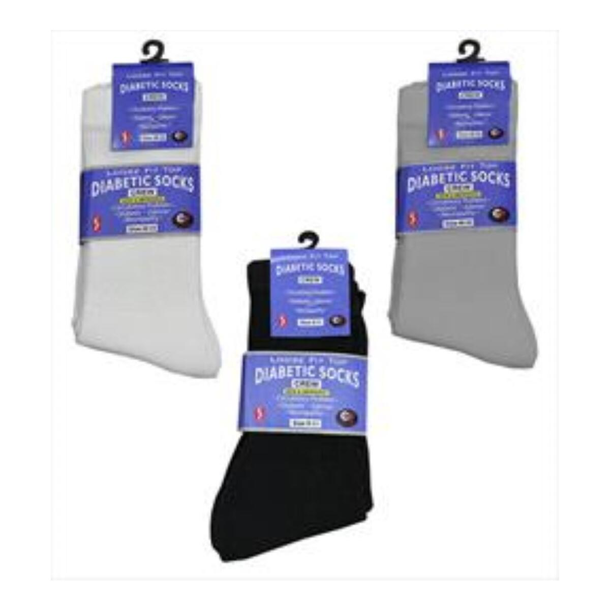 Diabetic Crew Socks L 9-11; XL 10-13 3prs