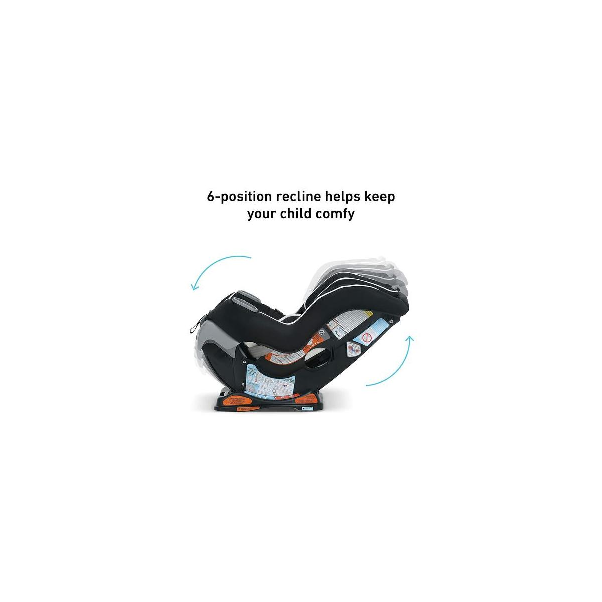 Graco Extend2Fit Convertible Car Seat | Ride Rear Facing Longer with Extend2Fit. COLOR Gotham.