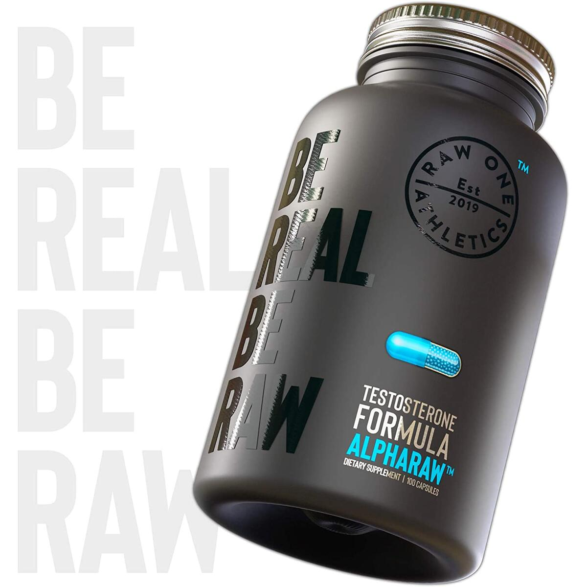 ALPHARAW™ by Raw One | Support Supplement for Men | 90 Capsules | Natural PCT for Men | Horny Goat Weed, Longjack, Tribulus Terrestris, Chrysin, ZMA & More