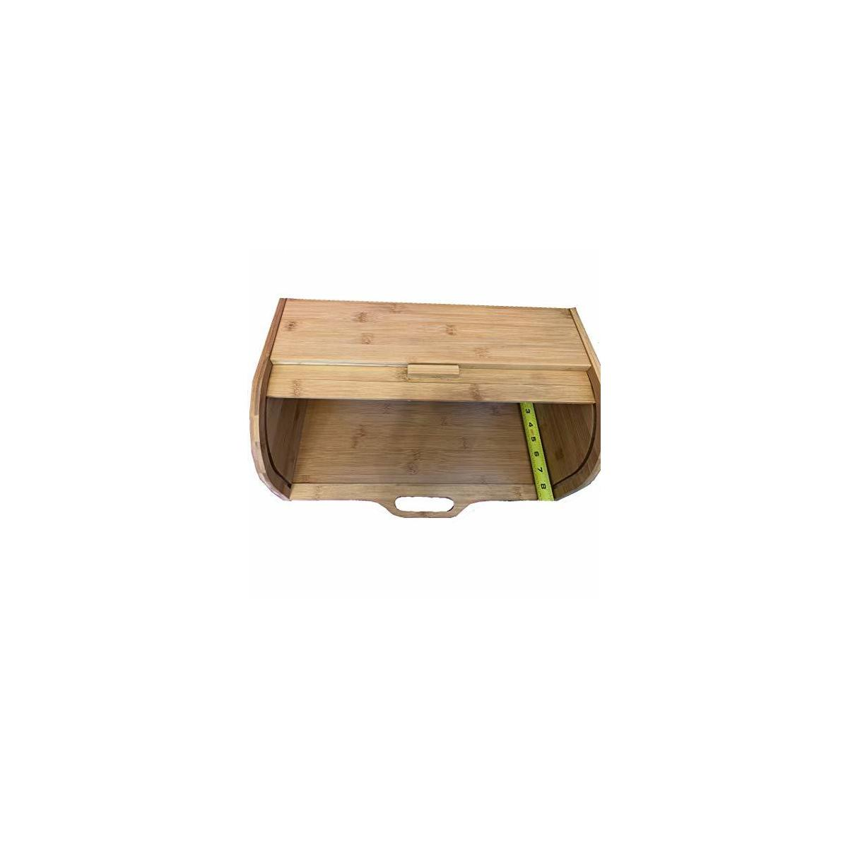 New Easy Grip Large Storage Bamboo Bread Box For Kitchen Counter and Universal Home Design 2020 Latest Upgrades